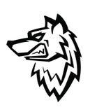 Wolfs hoofdvector Stock Fotografie