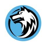 Wolfs hoofdvector Stock Foto