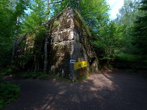 Wolfs ruined earthwork power of Nazism. The ruins of Hitlers Nazi Adofa Accommodation in Gierłoż in Mazury Royalty Free Stock Images