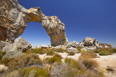 The Wolfsberg Arch in Cederberg Wilderness in South Africa. The remote Wolfsberg Arch in the Cederberg Wilderness in South Africa Stock Photos