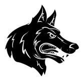 Wolfsmascotte Stock Foto