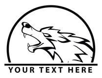 Wolfsymbol lizenzfreie abbildung
