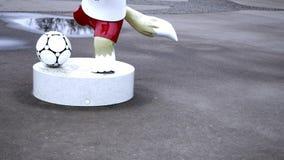 Wolfszabivaka is de Wereldbeker van mascottefifa! stock videobeelden