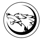 Wolfzeichen vektor abbildung