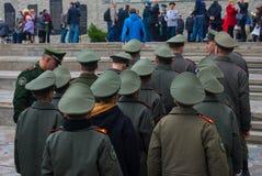 """WOLGOGRAD-†""""am 15. Oktober: Militärparade Stockbild"""