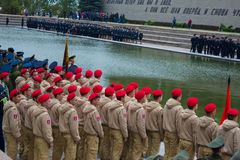 "WOLGOGRAD-†""am 15. Oktober: Militärparade Lizenzfreie Stockfotos"