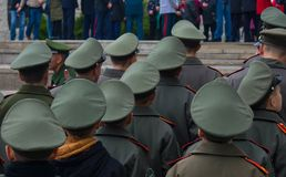 "WOLGOGRAD-†""am 15. Oktober: Militärparade Lizenzfreie Stockfotografie"