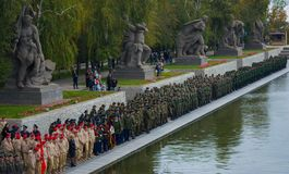 "WOLGOGRAD-†""am 15. Oktober: Militärparade Lizenzfreie Stockbilder"