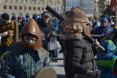 Wolgograd, Maslenitsa 2017 Lizenzfreie Stockfotos