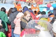 Wolgograd, Maslenitsa 2017 Stockfotos