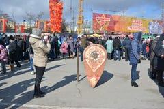 Wolgograd, Maslenitsa 2017 Stockfotografie