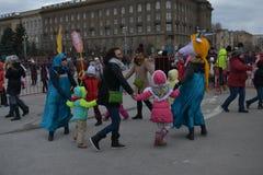 Wolgograd, Maslenitsa 2017 Stockfoto