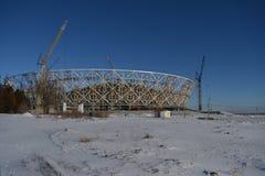 Wolgograd, Stadionsgebäude Lizenzfreies Stockfoto