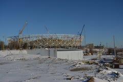 Wolgograd, Stadionsgebäude Stockfotos
