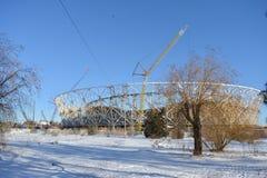 Wolgograd, Stadionsgebäude Stockbilder