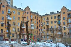 Wolgograd, Winteransicht Stockfotografie