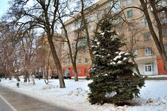 Wolgograd, Winteransicht Stockfoto