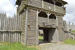 Wolin - main gate. Main gate to center of Slavs and Vikings, Wolin royalty free stock photos