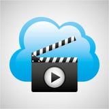 Wolk de filmmedia van de gegevensverwerkingsklep Stock Foto