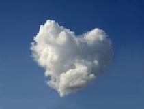 Wolk in de vorm van het hart Stock Afbeeldingen