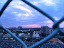 Wolk die Kaohsiung bouwen stock afbeelding
