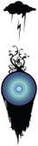 Wolk die op het Symbool van de Aarde met het Groeien van de Installatie regent Royalty-vrije Stock Afbeelding