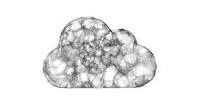Wolk die, IT symbool van de wolkentechnologieën gegevens verwerken Stock Foto's