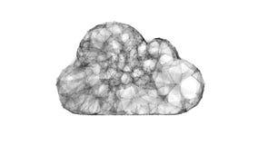 Wolk die, IT symbool van de wolkentechnologieën gegevens verwerken Royalty-vrije Stock Foto