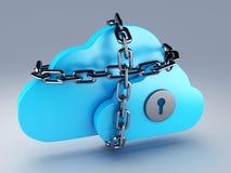 Wolk die, veiligheid gegevens verwerken royalty-vrije illustratie