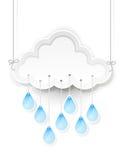 Wolk en het hangen regendalingen Royalty-vrije Stock Foto's