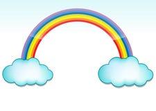 Wolk en regenboog Stock Fotografie