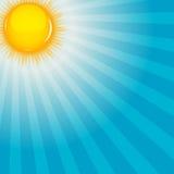 Wolk en zonnige vectorillustratie als achtergrond Royalty-vrije Stock Foto's