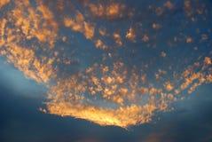 Wolk en zonsondergang Royalty-vrije Stock Fotografie