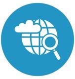 Wolk gebaseerd Internet Geïsoleerd Vectorpictogram dat zich gemakkelijk kan wijzigen of uitgeven stock illustratie