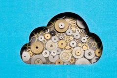 Wolk gegevensverwerkingsmechanisme Stock Fotografie
