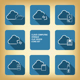 Wolk geplaatste de pictogrammen van de gegevensverwerkingsopslag Royalty-vrije Stock Foto's