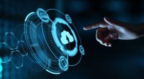 Wolk het Concept van het de Opslagnetwerk van Internet van de Gegevensverwerkingstechnologie stock afbeelding