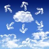 Wolk het digitale concept van de gegevensverwerkingsinnovatie in de hemel stock illustratie