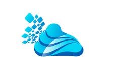 Wolk Logo Design Royalty-vrije Stock Fotografie
