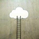 Wolk met ladder vector illustratie