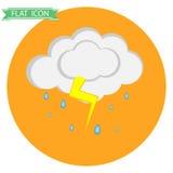 Wolk met regen en donder Royalty-vrije Stock Foto's