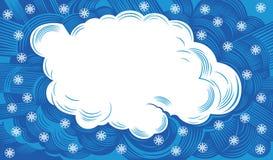 Wolk met sneeuwvlokken stock illustratie