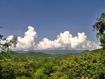 Wolk op de berg, Thailand Stock Afbeelding