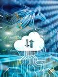 Wolk server en gegevensverwerking, gegevensopslag en verwerking Internet en technologieconcept royalty-vrije stock foto's
