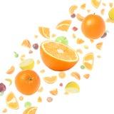 Wolk van vliegende vruchten Royalty-vrije Stock Foto