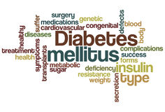 Wolk van Word van de diabetes mellitus stock illustratie