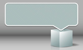 Wolk voor tekst pop uit het vakje in een witte kleur Royalty-vrije Stock Afbeelding