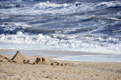 Wolke ähnliche Wellen stockfoto