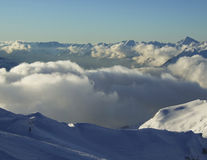 Wolke über Bergen Lizenzfreies Stockfoto