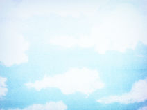 Wolke auf altem Papierbeschaffenheitshintergrund Lizenzfreie Stockfotos